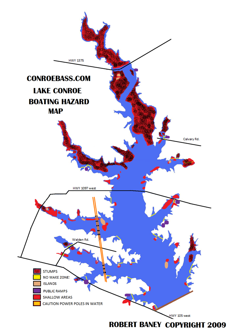 lake conroe ForLake Conroe Fishing Map